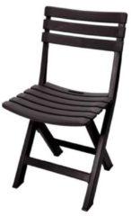 Progarden Stoel Komodo - Tuinstoel - klapstoel - kunststof - zwart - donker antraciet