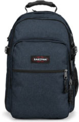 Blauwe Eastpak Tutor Rugzak 15 inch laptopvak - Triple Denim
