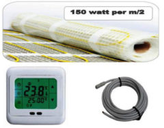 Best Design Vloerverwarming Cheap elektrisch 3,0 m2 mat. incl. digitaal thermostaat