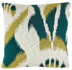 Groene Malagoon Ikat sierkussen 50 x 50 cm