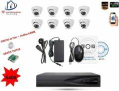 Witte Home-Locking camerasysteem met bewegingsdetectie en NVR 2.0MP H265 POE en 8 binnencamera's 2.0MP CS-8-488D