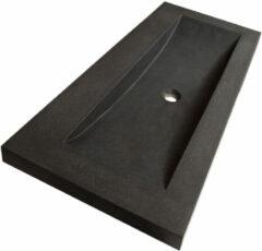 Sanituba Corestone wastafel basalt zonder kraangaten 120cm