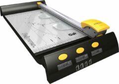 Gele Fellowes papiersnijmachine Neutron Plus A4, 10 vel, 320 mm, zwart