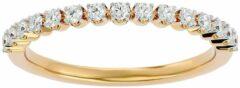 Aelra Joaillerie AELRA 14K geel gouden modieuze damesring 0.25ct natuurlijke ronde diamant