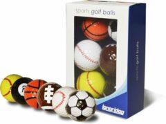 Longridge Golfballen 6 Stuks Fun Golf - golfen - kado - verjaardag