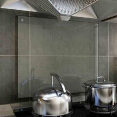 VidaXL Spatscherm keuken 70x60 cm gehard glas transparant