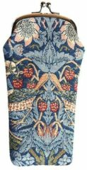 Blauwe Signare - Brillenhouder - Gobelin - Strawberry Thief Blue ( William Morris)