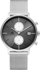 Zilveren Danish Design watches edelstalen herenhorloge Koltur Chrono Grey Silver Eyes Mesh IQ78Q975