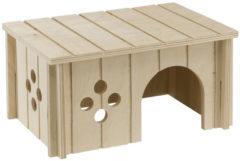 Ferplast Caviahuisje Hout Sin 4645 - Kooi Accessoire - 26x18.5x13.5 cm