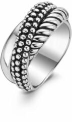 TI SENTO Milano Ring 1973SB - Maat 50 (16 mm) - Gerhodineerd Sterling Zilver