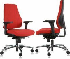 MR Actiflexx Bureaustoel Actiflexx Basic Arbo NPR 1813 | stof rood | voetenkruis aluminium incl. multifunctionele wielen