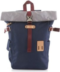 Blauwe Harvest Label Norikure Rolltop Backpack navy