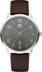 Danish Design IQ18Q1184 horloge heren - bruin - edelstaal