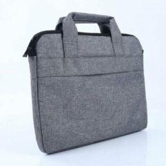 MoKo H821 aktetas Laptop Schoudertas 15.4 inch Notebook Tas - Hoes Multipurpose voor MacBook Pro A1990 A1707, XPS 15 - grijs