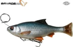 Blauwe Savage Gear 4D Line Thru Pulse Tail Roach - Slow Sink - Roach - 18cm - 90g - Zilver