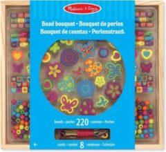 Houten speelgoed kralenset Bouquet Deluxe - Zelf sieraden maken van houten kralen - DIY sieraden set voor meisjes