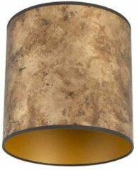 QAZQA Lampenkap brons 25/25/25 met gouden binnenkant