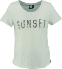 Catwalk junkie mintgroen shirt met pailletten - Maat S