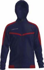Marineblauwe Jartazi Sportjack Torino Hooded Junior Navy/rood Maat 146/152