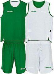 Groene Spalding Double Face reversibel basketbal tenue - maat 164