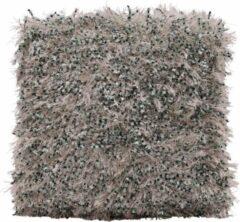 Myroundie - sierkussen - kussen - 45x45 cm - zilvergrijs groen - fluf 3