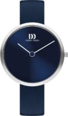 Zilveren Danish Design watches edelstalen dameshorloge Centro Blue IV22Q1261