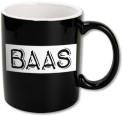 Witte Paper dreams Black&White Mugs - Baas-Black