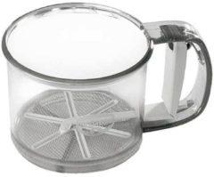 Einhand-Mehlsieb Kunststoff 350 g Küchenhelfer Dr. Oetker Transparent
