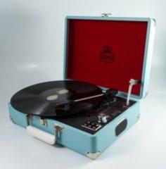 GPO Plattenspieler als Koffer mit eingebauten Lautsprechern - blau