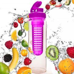 Roze #DoYourFitness - Fruitwater fles - »FruitInfusior« - Fruit infuser voor fruitpunches / groente spritzers - 800ml - Pink