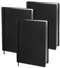 Dresz boekenkaft elastisch A4 textiel/elastaan zwart 3 stuks