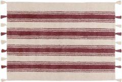 Lorena Canals - Vloerkleed katoen Stripes - 120 x 160 cm - Marsala