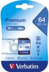 Verbatim Speicherkarte SDHC/SDXC Premium, Speicherkapazität 16 bis 128 GB