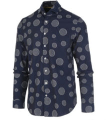 Blauwe Blue Industry 1155.92 shirt navy