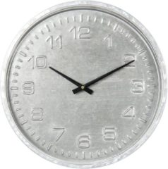 CLAYRE & EEF | KLOK Ø 39*5 CM / 1*AA | GRIJS | MDF / PAPIER | ROND | 6KL0567