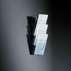 Sigel LH137 Folderhouder Acrylglas helder DIN A6, DIN lang Aantal vakken 3 1 stuk(s) (b x h x d) 120 x 375 x 115 mm