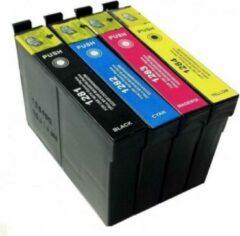 Cyane Inkmaster inktcartridges voor Epson T1285| Multipack van 4 cartridges voor Epson Stylus S22, SX125, SX130, SX230, SX235W, SX420, SX420W, SX425W, SX430W, SX435W, SX438W, SX440W, SX445W, Stylus Office BX305F, BX305FW