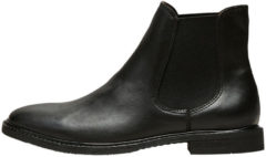 SELECTED Leather Chelsea - Boots Women Black