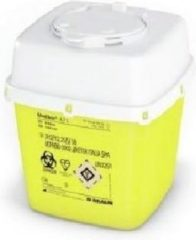 Careline medibox canule afvoercontainer - geel/wit - 2,4 liter