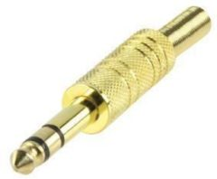 Gouden Valueline Stereo Connector 6.35 mm Male Metal