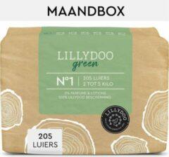 LILLYDOO groen luiers - Maat 1 (2-5 kg) - 205 Stuks - Maandbox