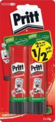 Pritt plakstift blister van 2 stuks van 43 g, 2de aan halve prijs