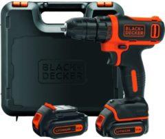 BLACK+DECKER 10,8V Schroef-/boormachine BDCDD12KB - compact - incl. lader en 2 accu's