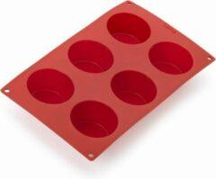 Rode Lekué Lekue Silicone Bakvorm voor 6 muffins - Siliconen - BPA-vrij