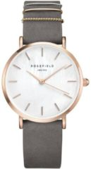 Rosefield The West Village Elephant Grey Rose Gold Horloge WEGR-W75