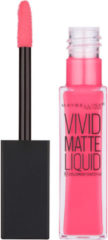 Koraalrode Maybelline Colour Sensational Vivid Matte Liquid Lipstick 8ml (Various Shades) - 20 Coral Courage