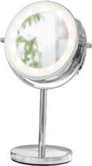 Schminkspiegel mit LED silberfarben