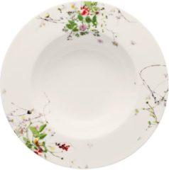 Witte ROSENTHAL - Brillance Fleurs Sauvages - Diep Bord 23cm met Rand