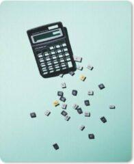 MousePadParadise Muismat Rekenmachine - Defecte rekenmachine met knoppen muismat rubber - 19x23 cm - Muismat met foto