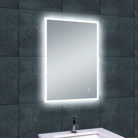 Afbeelding van Douche Concurrent Badkamerspiegel Wiesbaden Quatro 70x50cm Geintegreerde LED Verlichting Verwarming Anti Condens Touch Lichtschakelaar Dimbaar